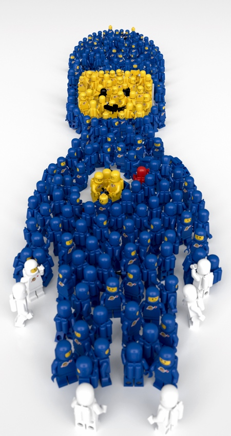 Camping Beds For Tents >> Giant LEGO Spaceman