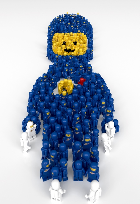 LEGO Spaceman made of LEGO Minifigs