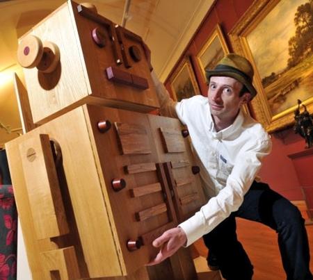 Wooden Robot Cabinet