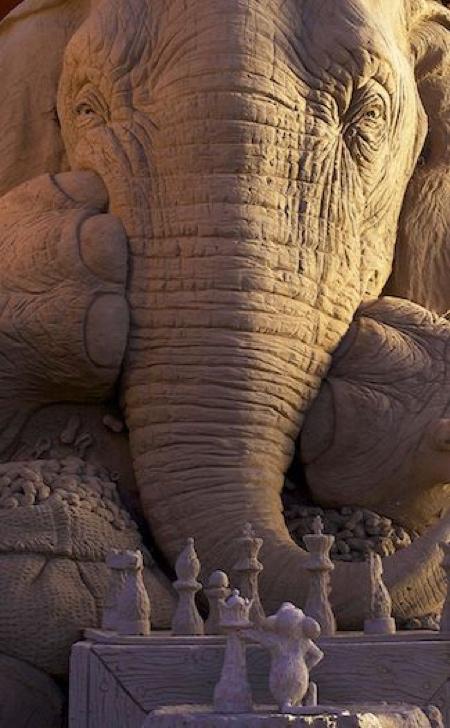 Ray Villafane Sand Elephant