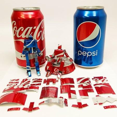Apollo Crowe Soda Can Robots