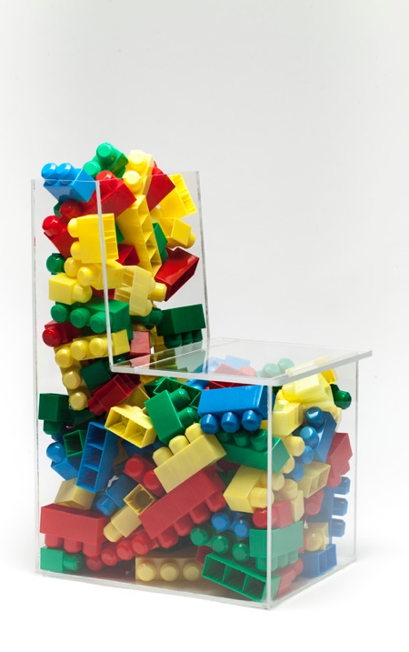 Plexiglass Storage Chair