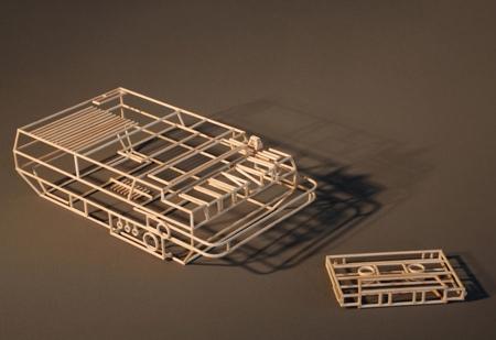 Janusz Grunspek Wireframe Sculptures