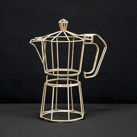 Janusz Grunspek Wireframe Sculpture