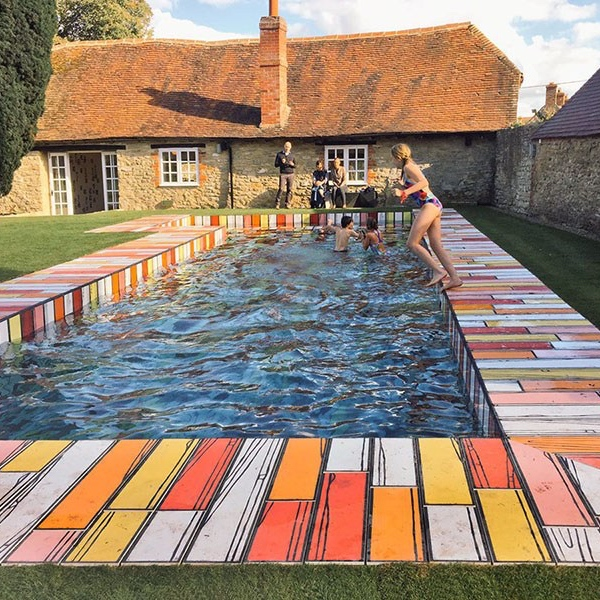 Richard Woods Wooden Swimming Pool