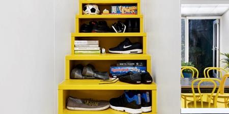 Yellow Storage Stairs