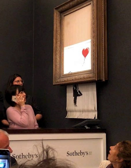 Self-Destructing Banksy Painting