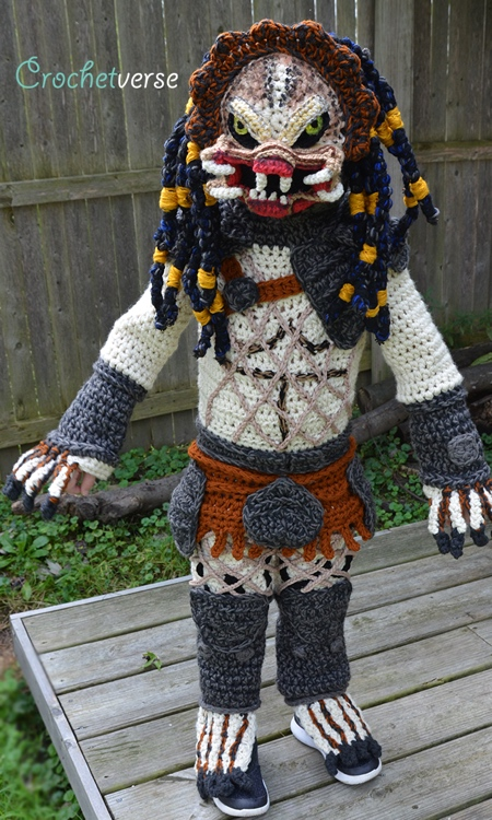 Crocheted Predator Halloween Costume