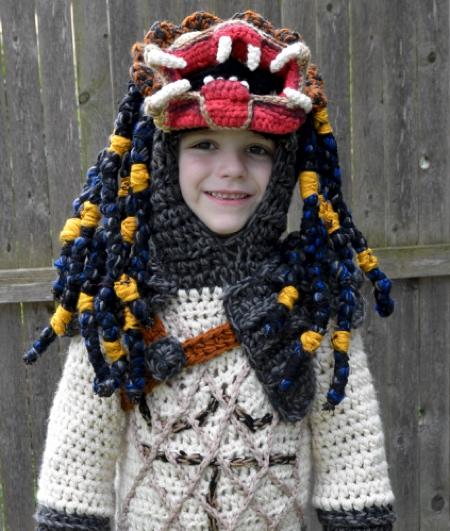 Hand-Crocheted Predator Costume