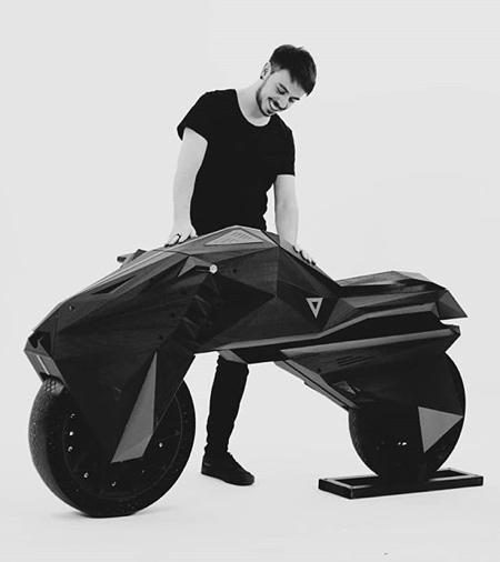 3D Printed Electric Motorcycle