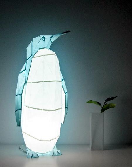 Penguin Paper Lamp