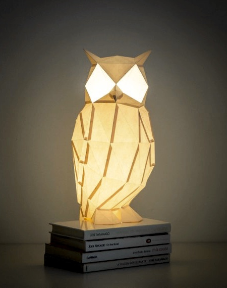 Night Owl Paper Lamp
