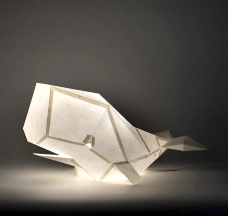 Whale Paper Lamp