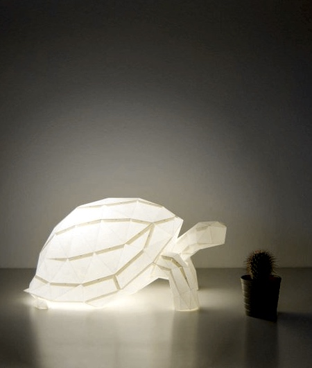 Turtle Paper Lamp