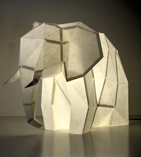 Elephant Paper Lamp