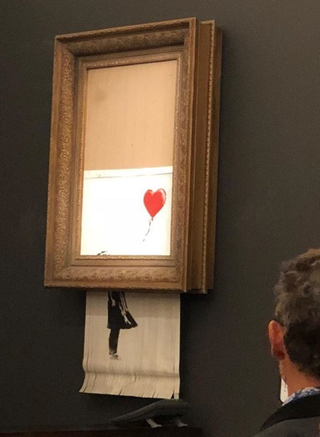 Banksy Shredded Painting
