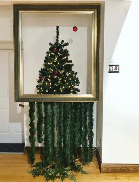 Banksy Shredded Painting Christmas Tree