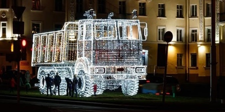 Christmas MAZ Truck