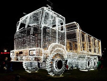 Christmas MAZ Truck Sculpture