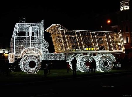 Christmas Truck Sculpture