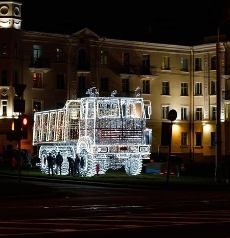 Christmas Truck in Minsk