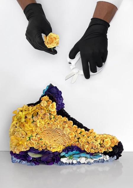 Shoes Made of Flowers