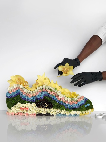 Flower Shoe Sculpture