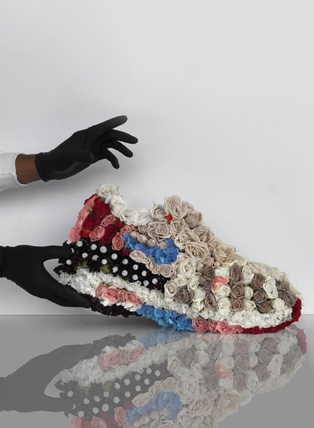 Shoe Made of Flowers