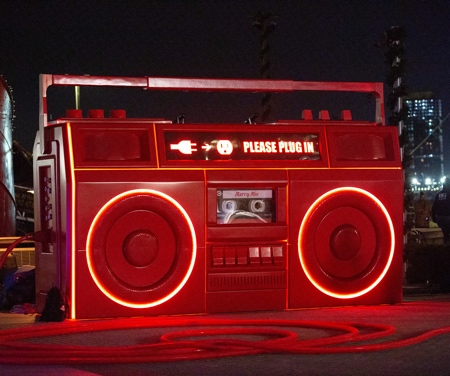 Giant Red Boombox