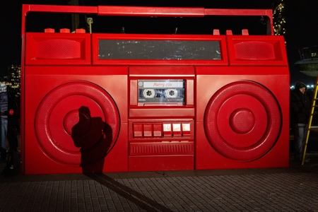 Giant Boombox In New York