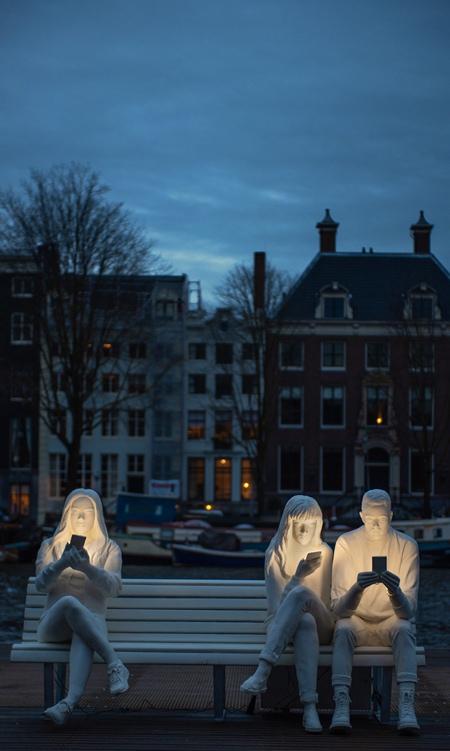 Modern Statues in Amsterdam