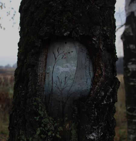 Dudnikova Eugeniya Paintings on Trees