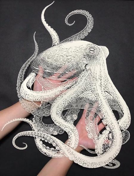 Octopus Paper Cutout