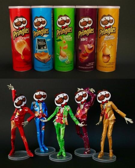 Haruki Pringles Sculptures