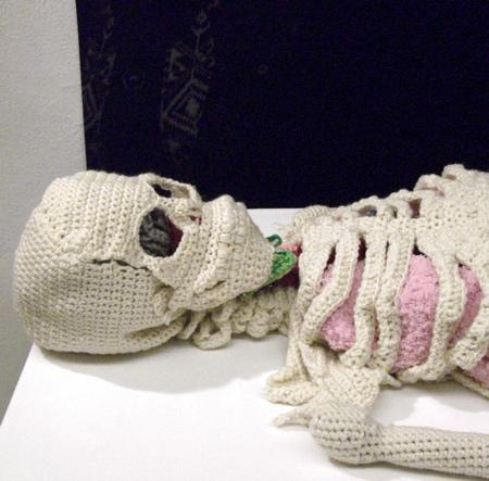 Crocheted Human Skeleton