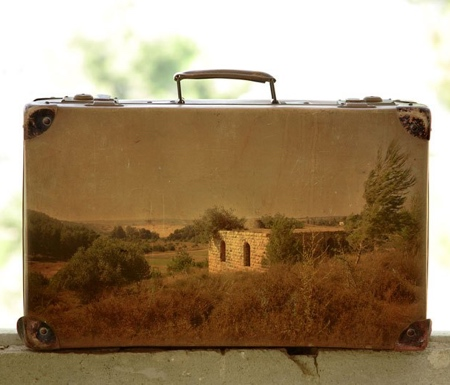 Paintings on Suitcases