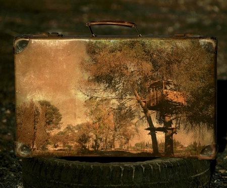 Painting on Suitcase