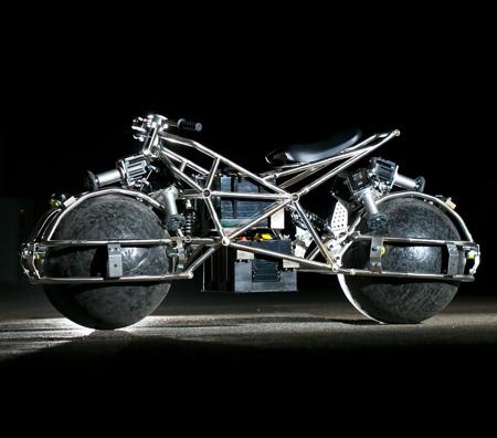 Motorcycle with Spherical Wheels