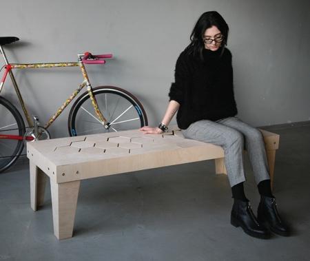 Gaudute Zilyte Soft Wooden Bench