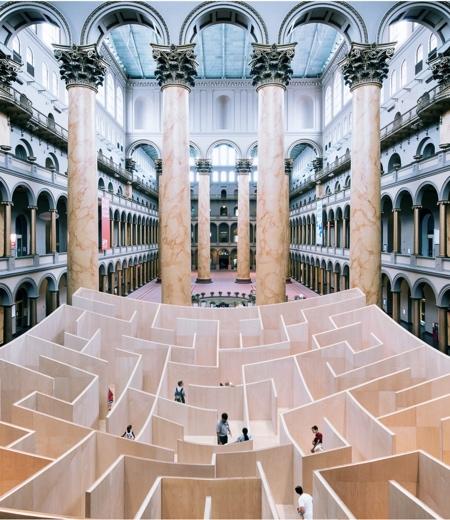 Giant Wooden Maze