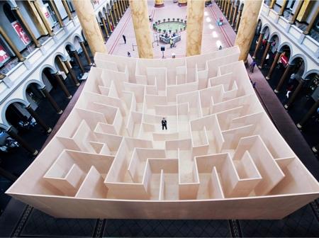 Giant Plywood Maze