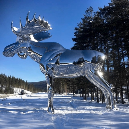 Mirror Moose Sculpture