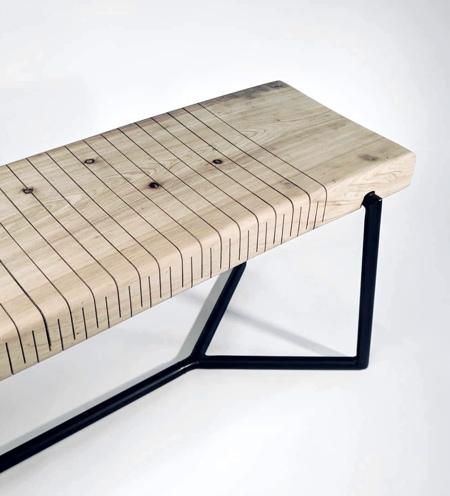 Bending Wooden Bench