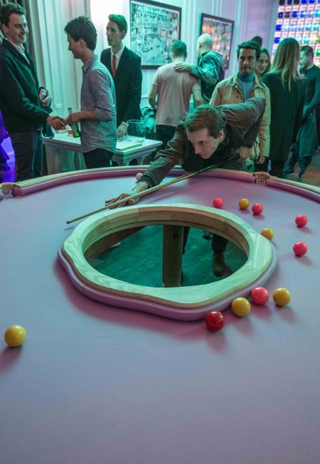 Cleon Daniel Doughnut Pool Table
