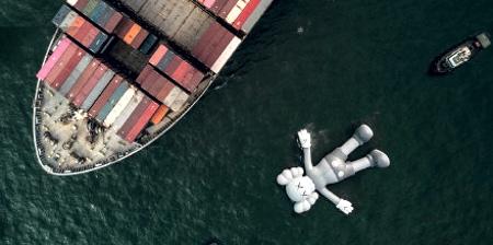 Floating Giant in Hong Kong