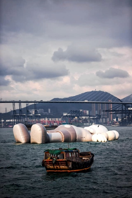 Floating Giant In Hong Kong