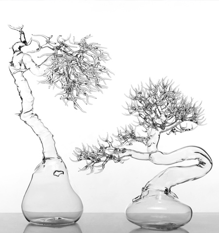 Simone Crestani Glass Bonsai Trees