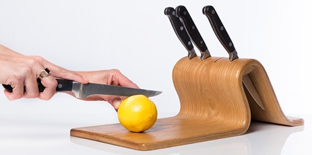 Knife Block Cutting Board