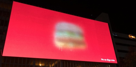 Blurred McDonalds Billboards