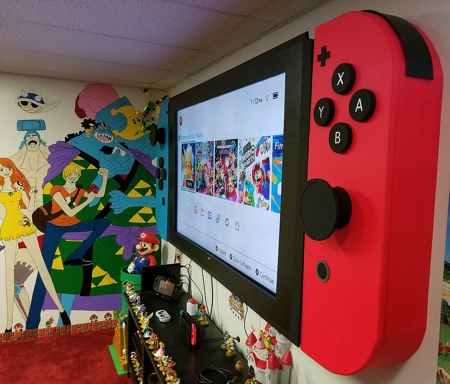 Giant Nintendo Switch TV